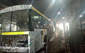 На території тролейбусного ДЕПО проводять відновлювальні роботи тролейбусів