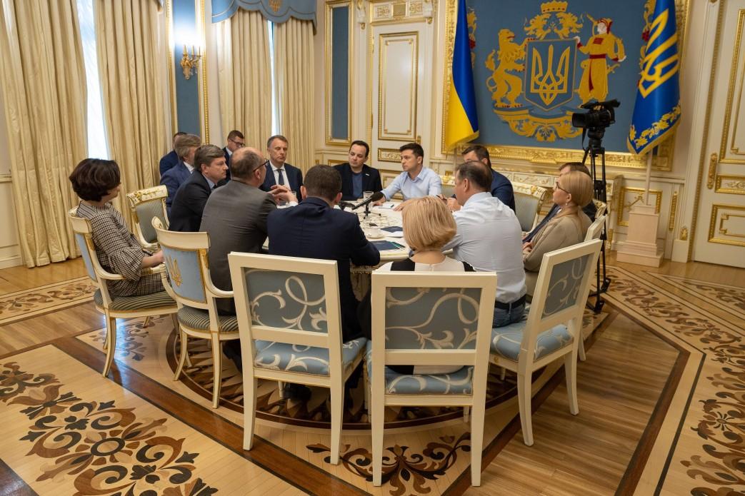 Триває зустріч новообраного Президента України з керівництвом Верховної Ради та…