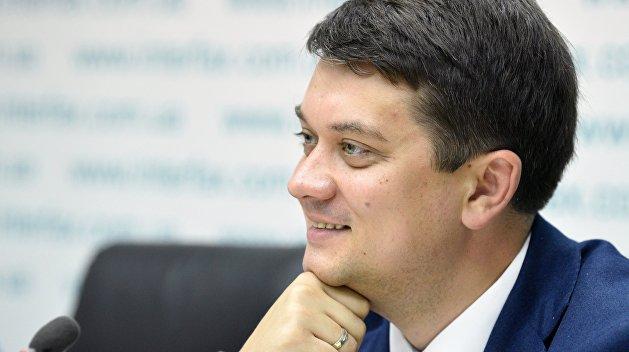 Дмитро Разумков хвалиться своїми першими днями у Верховній Раді
