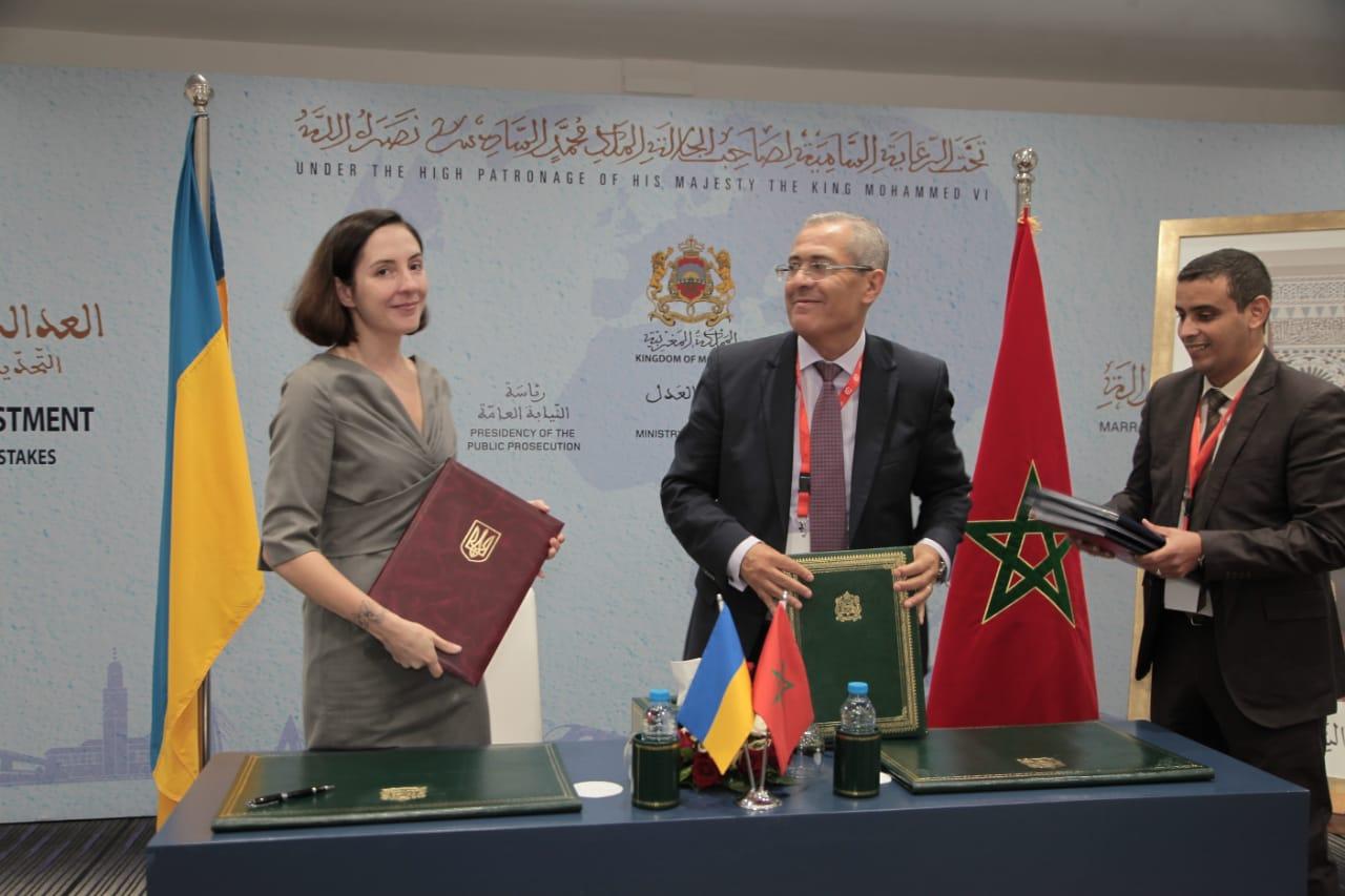 Мін'юст України підписало міжнародні дороговори з Мін'юстом Королівства Марокко