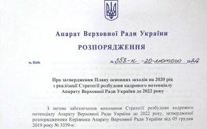Верховна рада затвердила план дій реалізації парламентської реформи